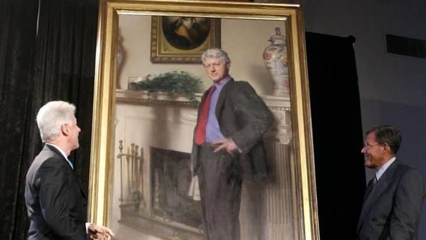 La sombra de Mónica Lewinsky en un retrato de Clinton