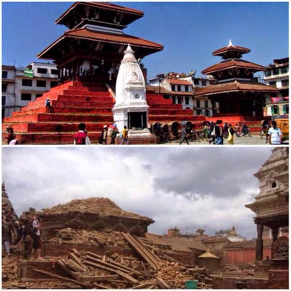 #PrayForNepal-Imagenes del antes y después