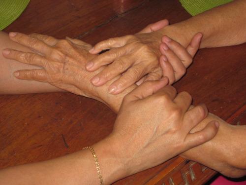 Las manos de mamá.