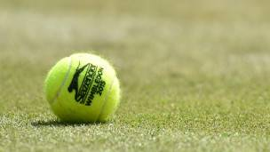 Pelota de tenis.