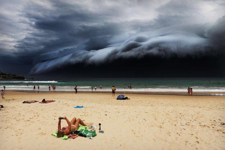 Primer premio de la categoría Naturaleza, Rohan Kelly. Tormenta frente a la playa Bondi de Sídney