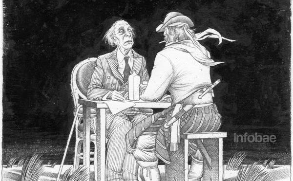 El escritor y la Patria: Borges, aniversario y Bicentenario