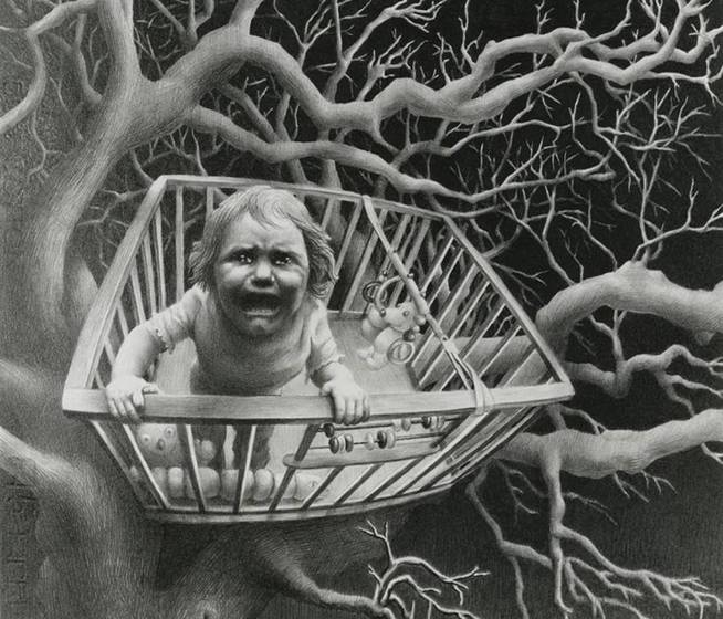 'When the bough breaks', Laurie Lipton, 1989.