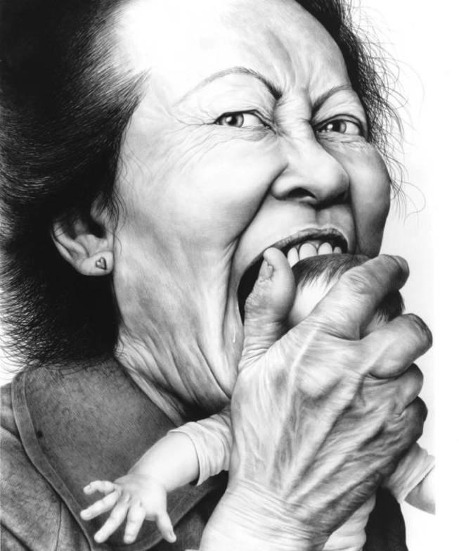 'Love bite', Laurie Lipton, 2002.
