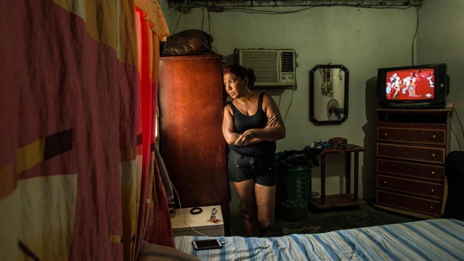 María Piñero, en su casa de La Vela, a la espera del bote que podría sacarla de Venezuela Meridith Kohut/NYT