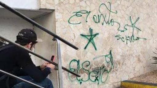 Una de las pintadas de «El Sexto» en La Habana donde se lee «Se fue»