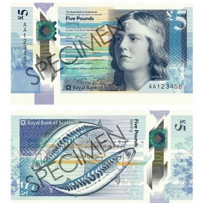 El de 5 libras de Escocia