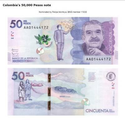El de 50.000 pesos de Colombia