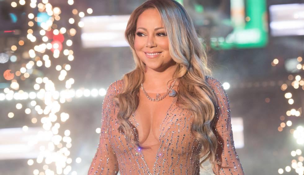 Mariah Carey, en Times Square.