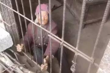 ImImagen de la anciana, publicada en la red social china Weibo.agen de la anciana, publicada en la red social china Weibo.