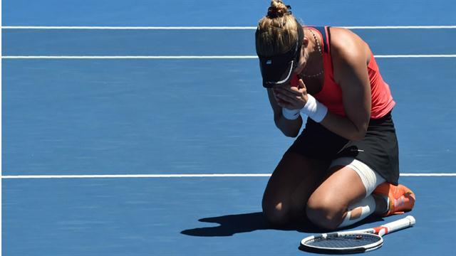 Pura emoción: las lágrimas de Lucic, en el court central de Australia