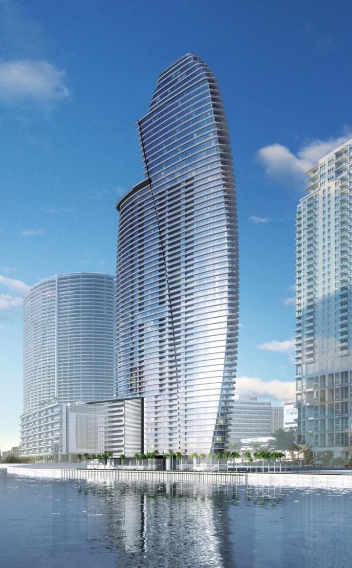 """Miami recibirá lujosa torre """"Aston Martin"""" de 66 pisos, con sus residencias empezando por encima de los $1.000 por pie cuadrado"""