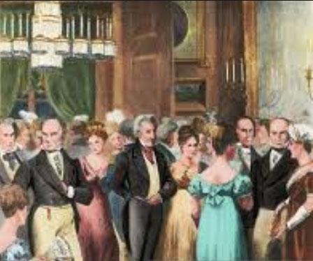 Louisa Adams y John Quincy Adams Vida Social