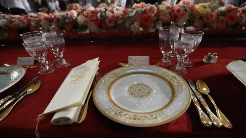 mesa del almuerzo inaugural