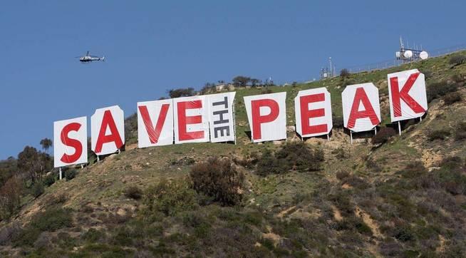 Protesta ecologista en Hollywood, en 2010. (Getty)