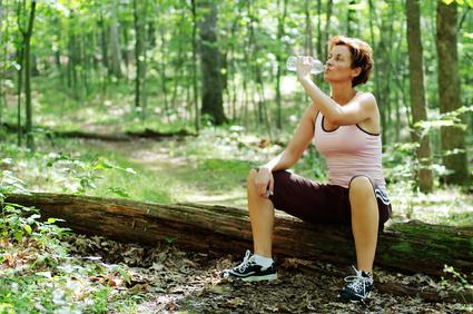 Mature Woman Runner Resting