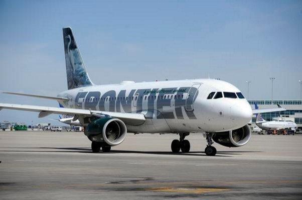 Avión de Frontier (The Denver Post)