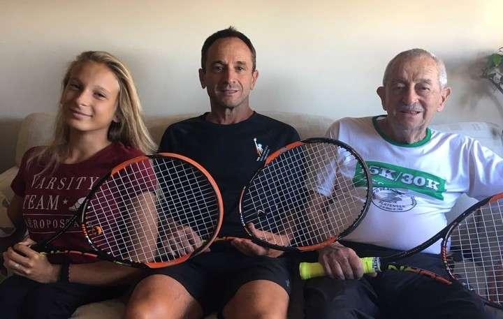Nada detiene a Nicole, un ejemplo de superación y amor por el tenis