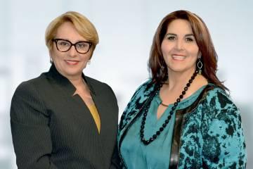 Mercy Cabrera y Odalys Arévalo.