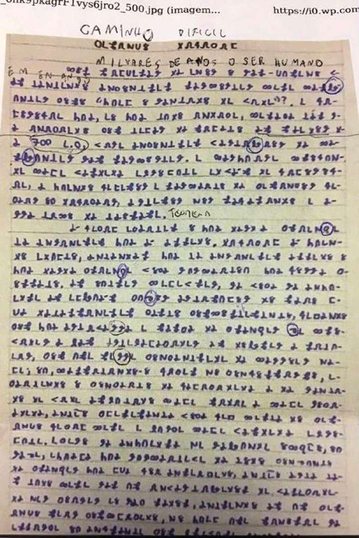 Misteriosa desaparición de un joven: dejó escritos 14 libros con símbolos criptográficos