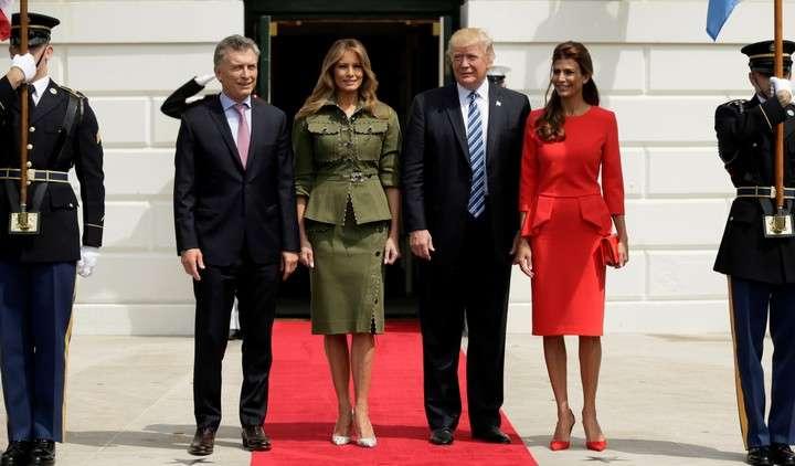 Melania Trump y Juliana Awada: los looks de dos reinas del glam