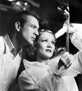 Gary Cooper y Marlene Dietrich