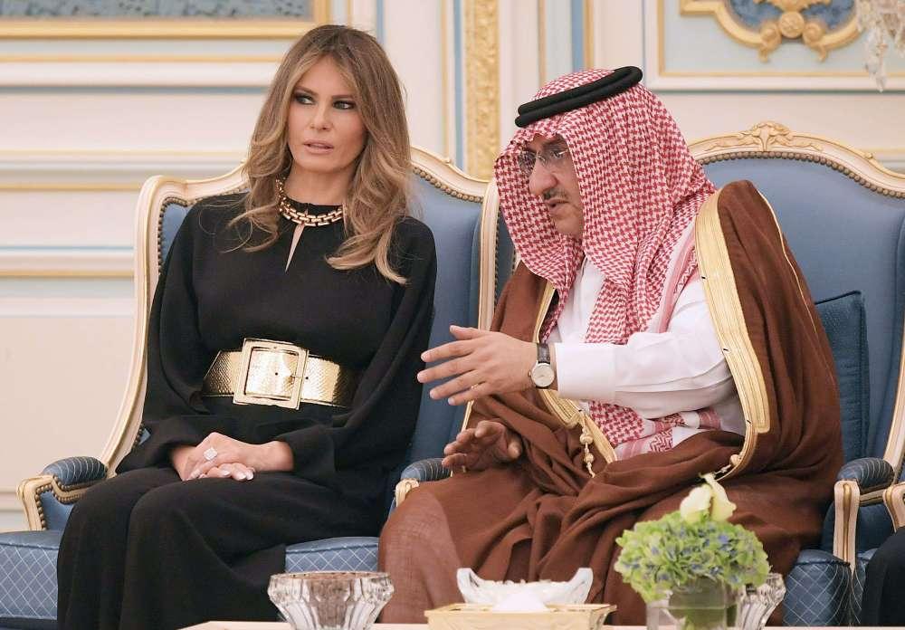 Melania Trump desata burlas por cinturón que usó en ArabiaSaudita