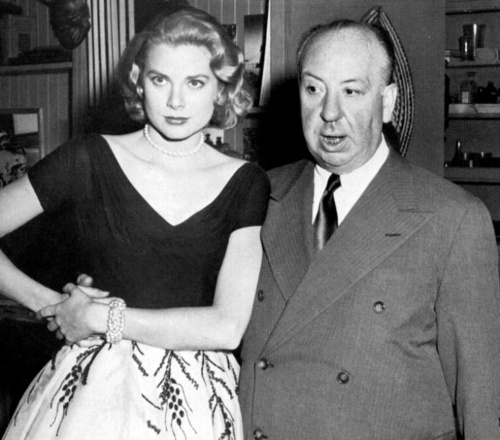 Hitchcock con Grace Kelly