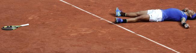 Rafa Nadal tras ganar su décimo Roland Garros