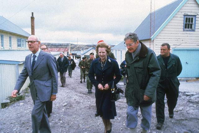 Margaret Thatcher con su