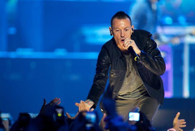 El vocalista de Linkin Park, Chester Bennington, en una actuación en Las Vegas el 22 de septiembre de 2012