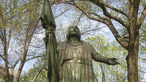 La estatua de Cristóbal Colón en Central Park