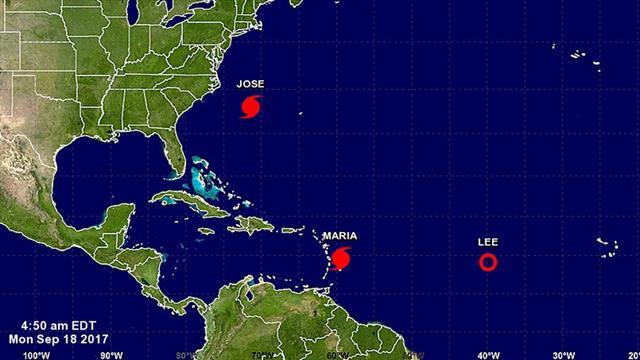 """El huracán María cobra más fuerza y aseguran que su impacto en el Caribe será """"catastrófico"""""""