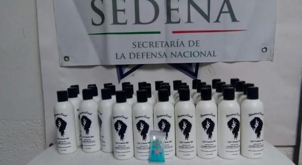 En frascos de shampoo