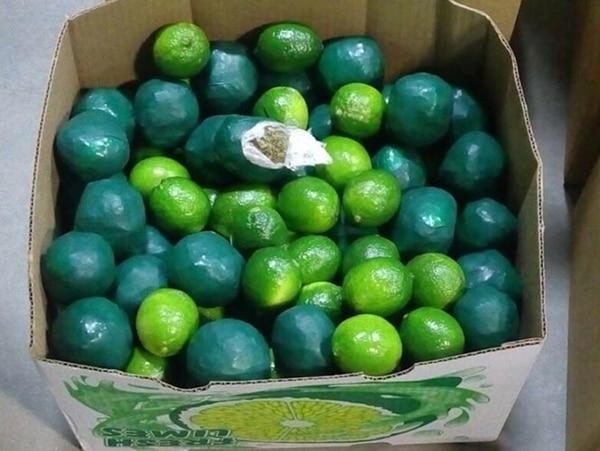 Limones falsos que ocultaban cocaína