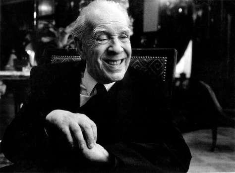 Jorge Luis Borges, durante una entrevista en 1985.