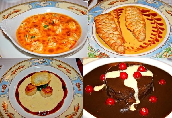 Cuatro platos de Paul Bocuse