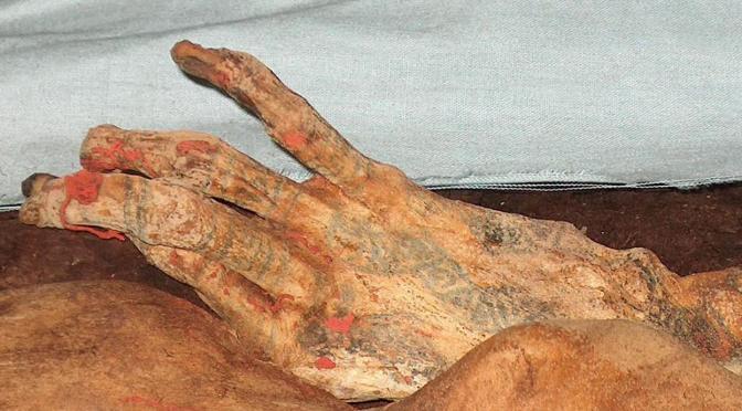 Hallan una «momia» inca que estaba envuelta en un edredón como los actuales