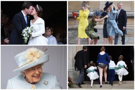 Llamativas fotos de la boda real: Eugenia de York y Jack Brooksbank