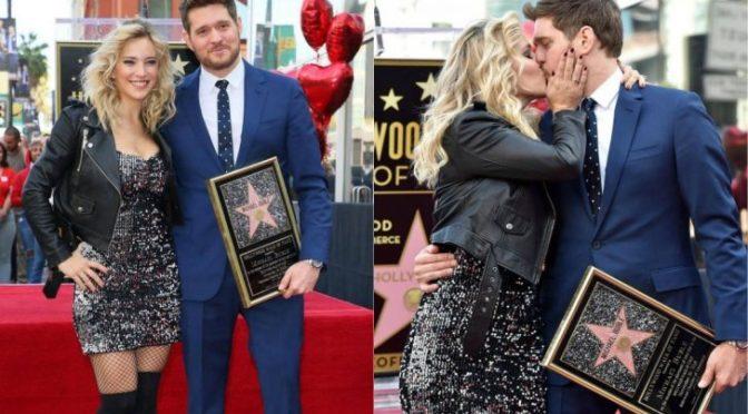 Michael Bublé recibió una estrella en el Paseo de la Fama