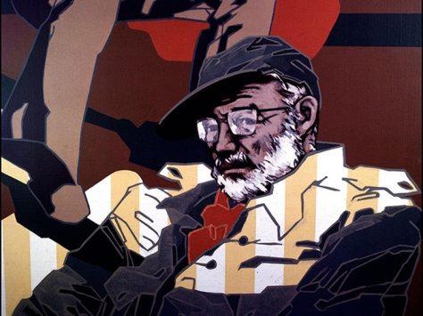 """""""Ernest Hemingway"""", por el artista español Eugenio Chicano"""