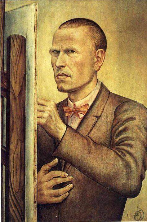 Selbstbildnis mit Staffelei (Autorretrato con caballere, 1926)