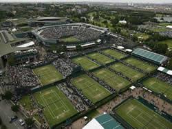 Las canchas de Wimbledon