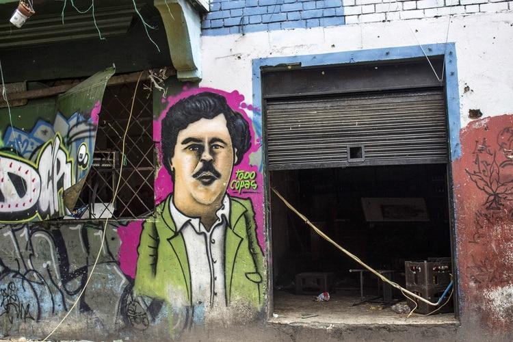 Grafiti de Pablo Escobar en una calle de la zona llamada popularmente el Bronx, en Bogotá (Daniel Garzen Herazo/Pacific Press Via Zuma Wire/Shutterstock)