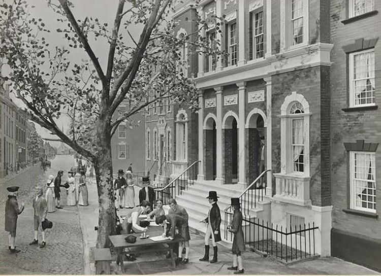 El origen de la mayor plaza bursátil moderna: una reunión de comerciantes bajo un árbol en la calle del muro