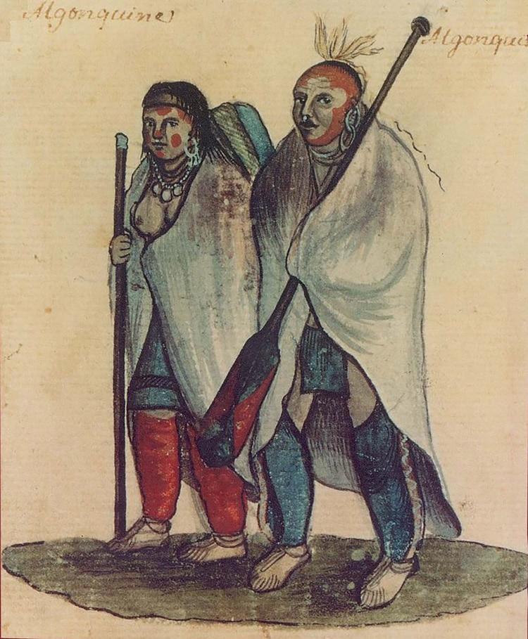 Los aborígenes algonquinos, de ellos tomaron los holandeses el nombre