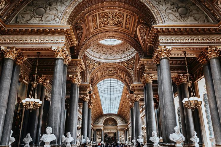 Interior del palacio de Versalles.