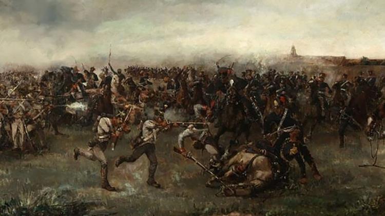 """Cabral fue bautizado como """"soldado heroico"""" por haber sacrificado su vida al anteponer su cuerpo ante el general San Martín, en la célebre batalla de San Lorenzo"""