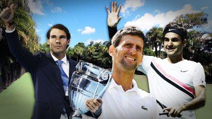 Nadal Federer y Djokovic, los tres mejores tenistas de la última década