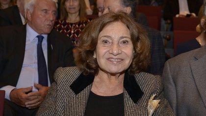 Berta Szpindler de Borensztein, viuda de Tato Bores